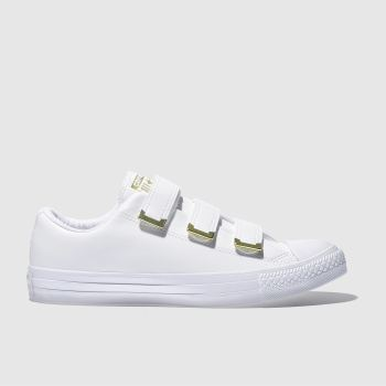 Converse White Chuck Taylor All Star 3V Ox Womens Trainers