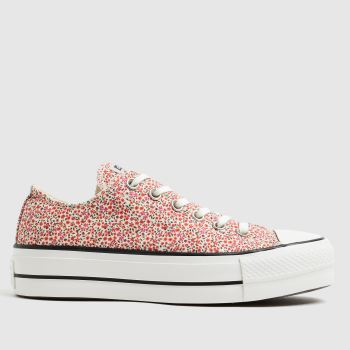 Converse Pink Lift Floral Ox Womens Trainers