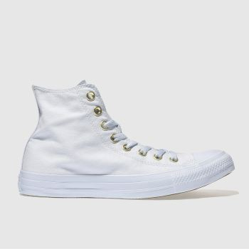 Converse Pale Blue All Star Mono Glam Hi Womens Trainers