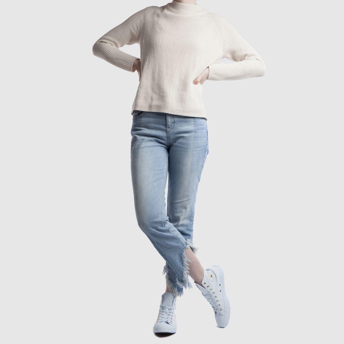 Damen Hellblau converse All Star Mono Glam Hi Sneaker | schuh Gute Qualität beliebte Schuhe