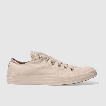 Converse Pale Pink ALL STAR MONO GLAM OX Trainers
