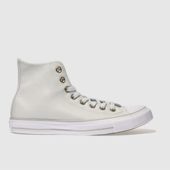 Converse Grey All Star Synthetic Hi Womens Trainers