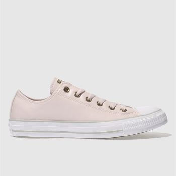 CONVERSE PALE PINK ALL STAR SYNTHETIC OX TRAINERS