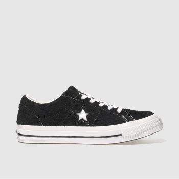 Converse Black & White One Star Suede Ox Womens Trainers