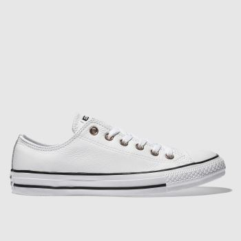 Converse White Rose Gold Eyelets Ox Womens Trainers