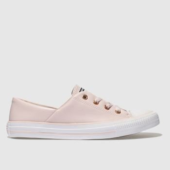 Converse Pale Pink All Star Coral Craft Pu Ox Womens Trainers