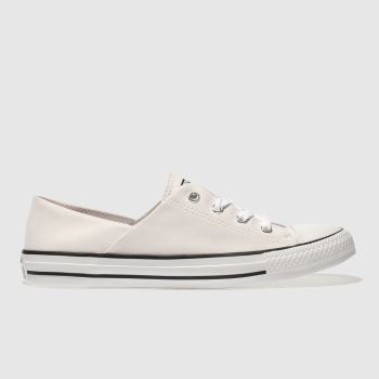 CONVERSE PALE PINK CORAL PEACHED CANVAS OX TRAINERS