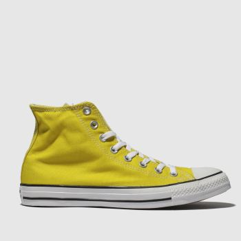 Converse Yellow Chuck Taylor All Star Hi Womens Trainers