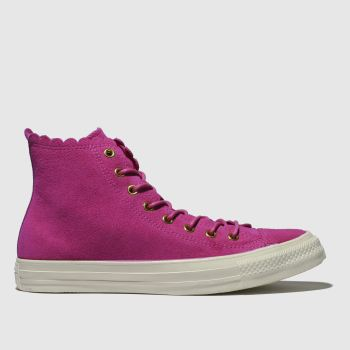 Converse Pink All Star Hi Frilly Thrills Womens Trainers