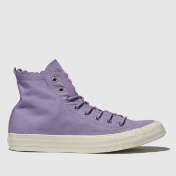 Converse Lilac All Star Hi Frilly Thrills Womens Trainers