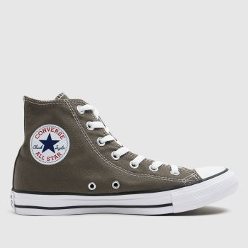 Converse Grey Chuck Taylor All Star Hi Womens Trainers