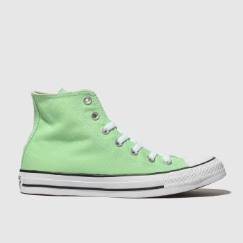 Converse Light Green Chuck Taylor All Star Hi Womens Trainers