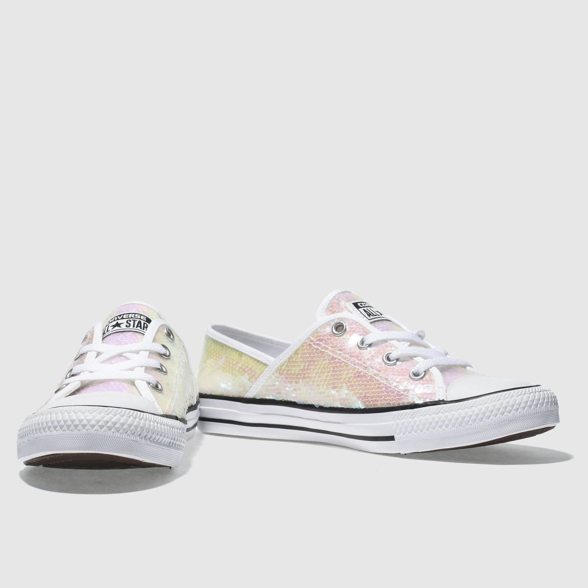 Damen Weiß-pink converse All Star Coral Ox Sequins Sneaker | schuh Gute Qualität beliebte Schuhe