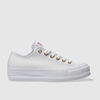 Converse White Ox Lift Platform Patent Womens Trainers