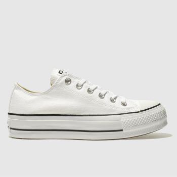 Converse White Ox Lift Platform Womens Trainers#