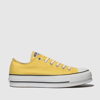 Converse Yellow All Star Ox Lift Platform Womens Trainers