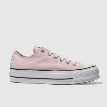 Converse Pink Ox Lift Platform Canvas Womens Trainers