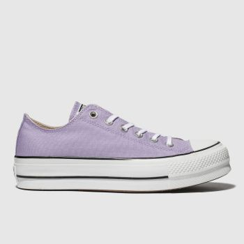 Converse Lilac Ox Lift Platform Womens Trainers