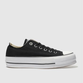 Converse Black & White Ox Lift Platform Womens Trainers#