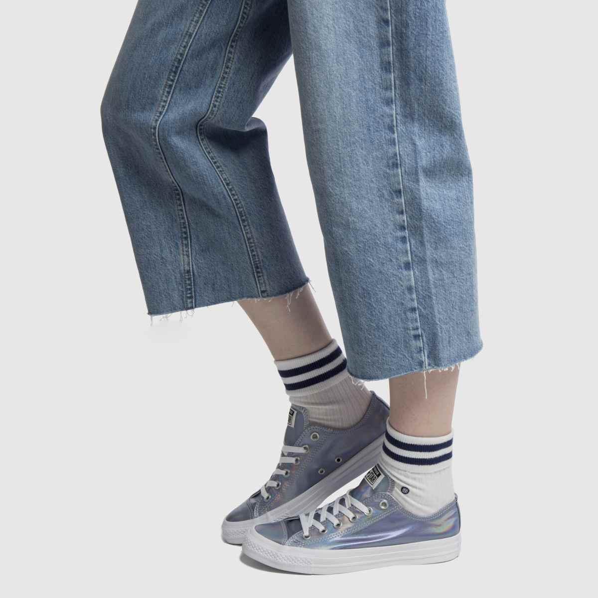 Damen Silber converse All Star Iridescent Gute Ox Sneaker   schuh Gute Iridescent Qualität beliebte Schuhe ac791e