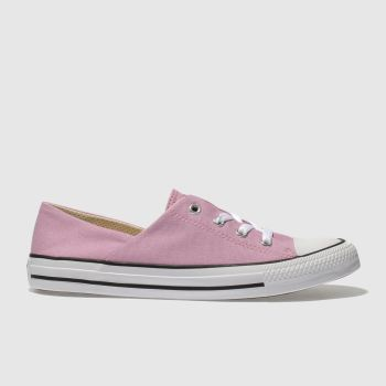 Converse Pale Pink All Star Coral Canvas Ox Womens Trainers