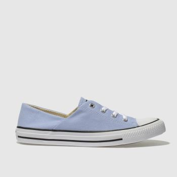 Converse Pale Blue All Star Coral Canvas Ox Womens Trainers