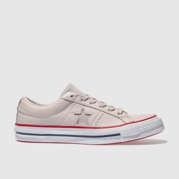 Converse Pale Pink One Star Leather Ox Womens Trainers