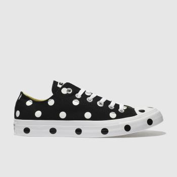 Converse Black All Star Polka Dot Ox Womens Trainers