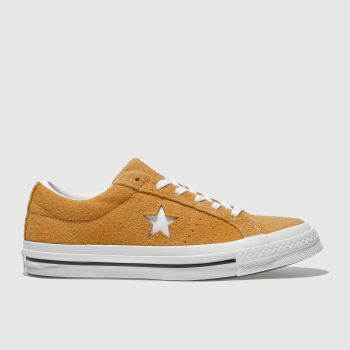Converse Orange One Star Vintage Suede Womens Trainers