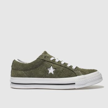 Converse Khaki One Star Vintage Suede Womens Trainers