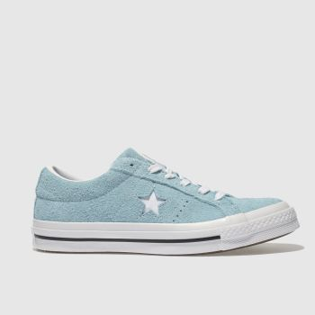 Converse Blue One Star Vintage Suede Womens Trainers