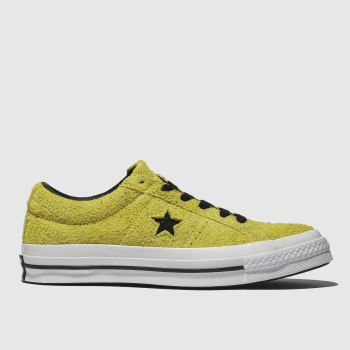 Converse Yellow One Star Ox Suede Womens Trainers