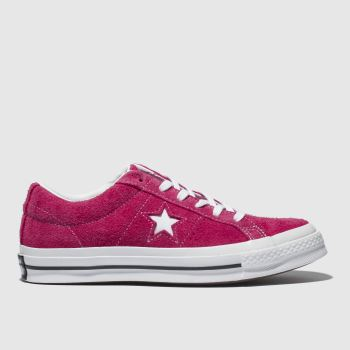 Converse Pink One Star Ox Suede Womens Trainers 3468c1126