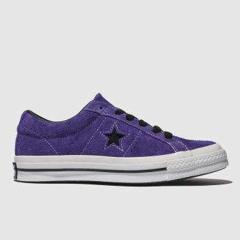 Converse Purple One Star Ox Suede Womens Trainers