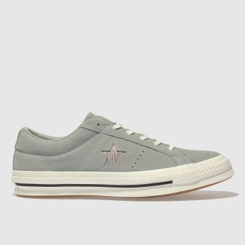 Converse Khaki One Star Ox Suede Womens Trainers