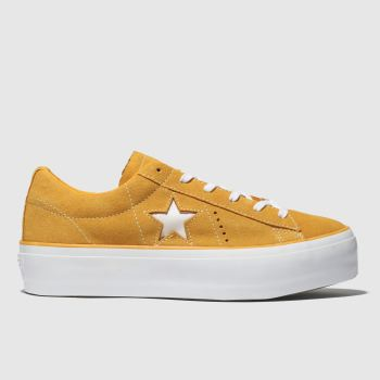 Converse Orange One Star Platform Ox Womens Trainers