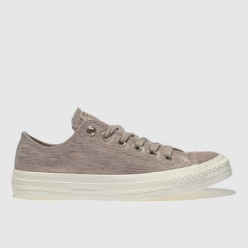 CONVERSE PALE PINK ALL STAR OX METALLIC TRAINERS