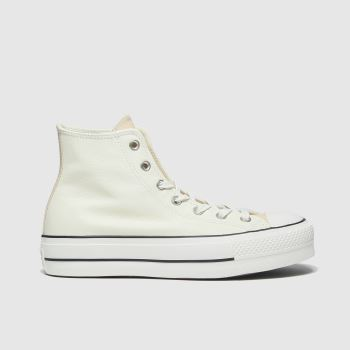 Converse White & Beige Lift Hi Womens Trainers