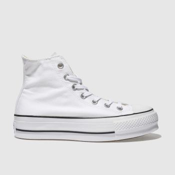 Converse White Chuck Taylor All Star Lift Hi Womens Trainers