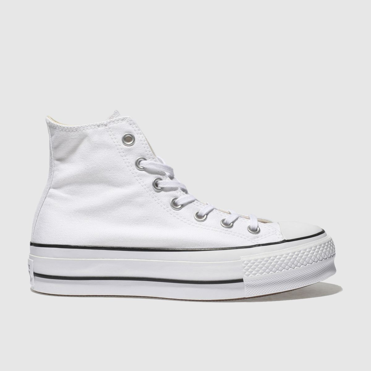 2251638ebbb1 Converse White Chuck Taylor All Star Lift Hi Trainers