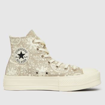 Converse Stone Floral Lift Hi Womens Trainers