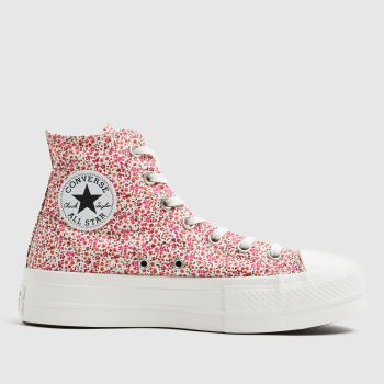 Converse Red Lift Floral Hi Womens Trainers