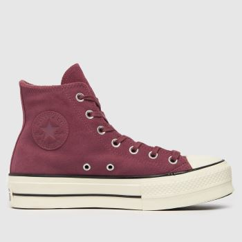 Converse Burgundy Cold Fusion Lift Hi Womens Trainers