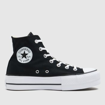 Converse Black Chuck Taylor All Star Lift Hi c2namevalue::Womens Trainers