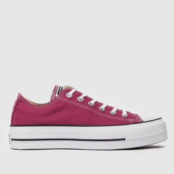 Converse Burgundy Chuck Taylor All Star Lift Ox Womens Trainers