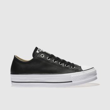 Converse Black Chuck Taylor Lift Ox Womens Trainers