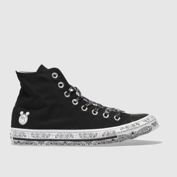 Converse Black All Star Miley Cyrus Hi Womens Trainers