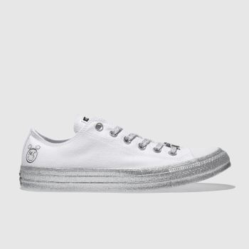 Converse White All Star Miley Cyrus Ox Womens Trainers