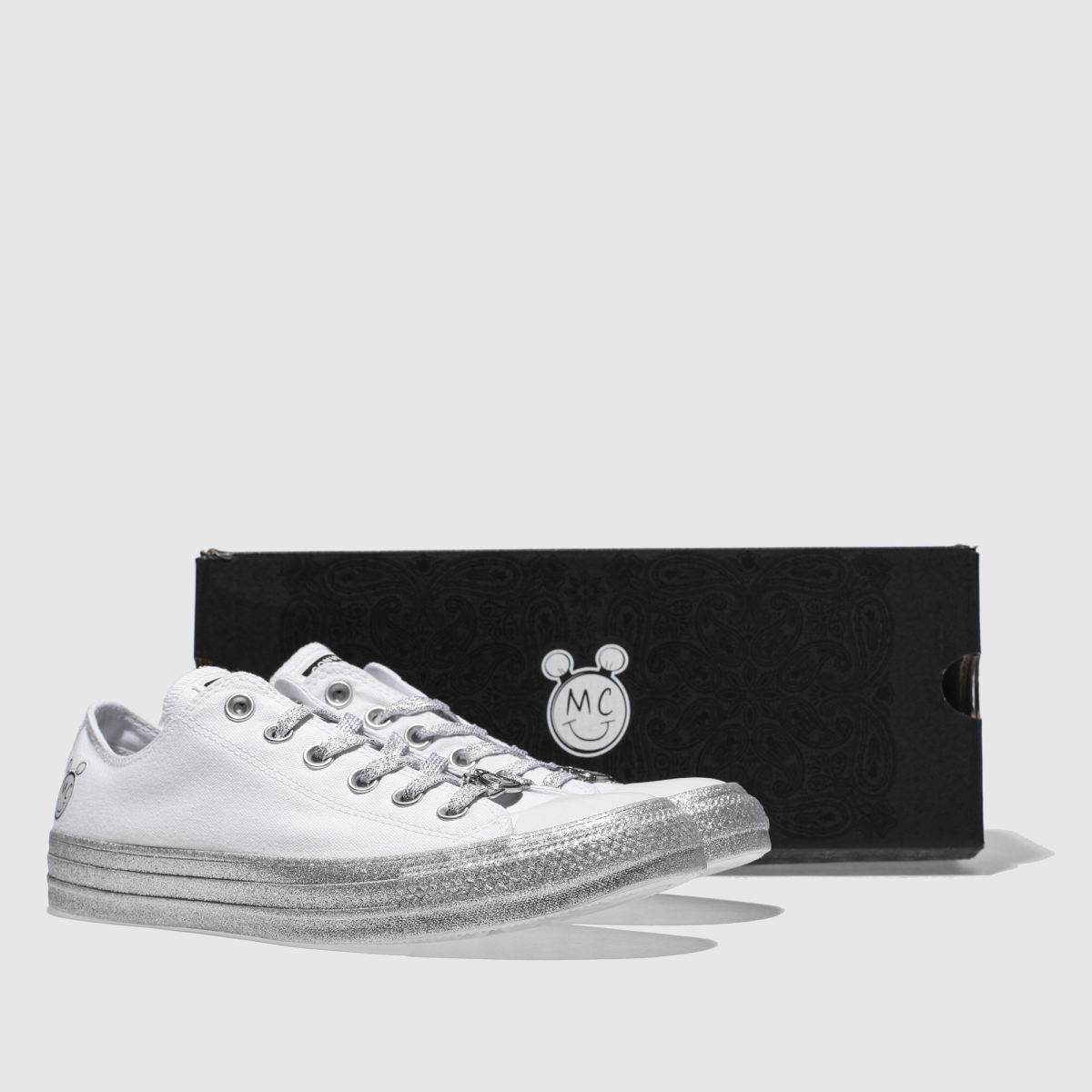 Damen Weiß-silber converse All Star Miley Cyrus Ox Sneaker beliebte | schuh Gute Qualität beliebte Sneaker Schuhe bfb9cc