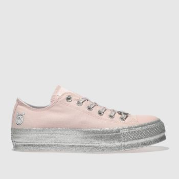 CONVERSE PALE PINK ALL STAR MILEY CYRUS LIFT OX TRAINERS